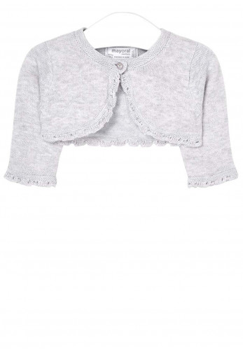 Mayoral Baby Girls Bolero Cardigan, Grey