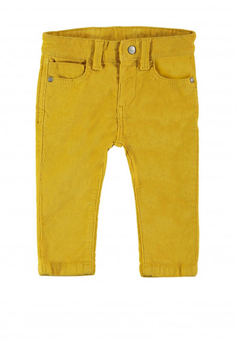 Mayoral Baby Boys Slim Fit Corduroy Jeans, Yellow