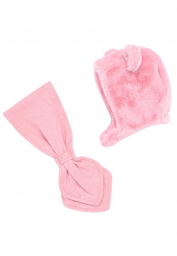 Mayoral Baby Girls Faux Fur Hat & Scarf, Pink