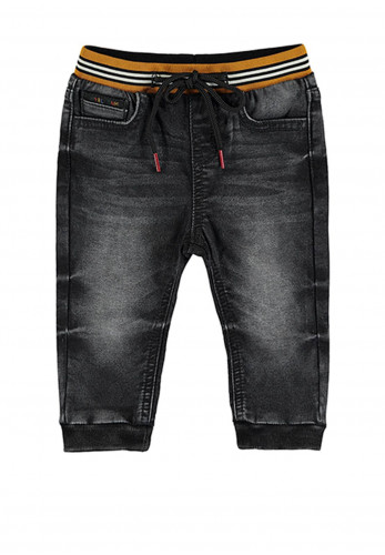 Mayoral Baby Boys Jogger Jean, Charcoal
