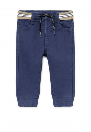 Mayoral Baby Stretch Joggers, Blue