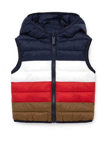 Mayoral Baby Reversible Padded Gilet, Navy