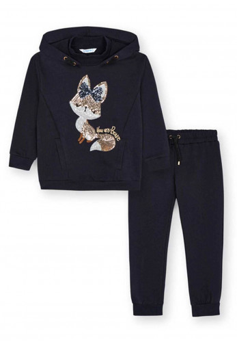 Mayoral Sequined Hooded Tracksuit, Navy