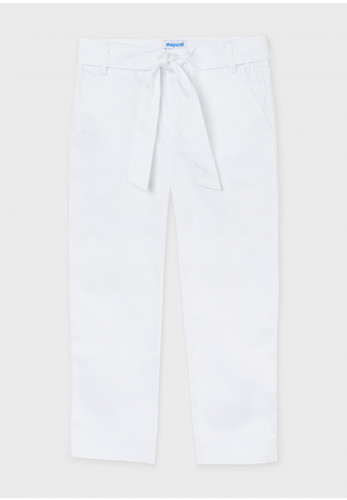 Mayoral Girls Dress Trousers, White