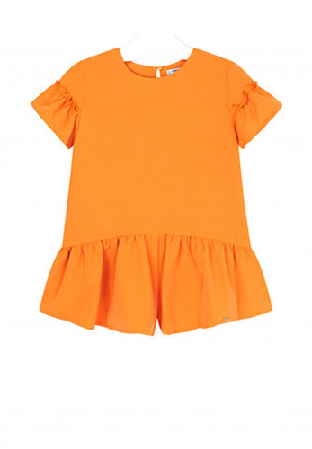 Mayoral Girls Frilled Skirt Dress, Orange