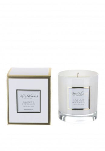 Katie Hannah By McElhinneys Lavender & Geranium Natural Wax Candle