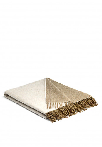 Mc Nutt of Donegal Cappuccino Reversible Throw