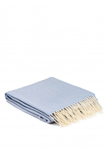 McNutt of Donegal Cashmere Wrap, Pale Blue