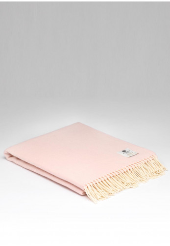 McNutt of Donegal Soft Lambswool Herringbone Throw, Candy Floss
