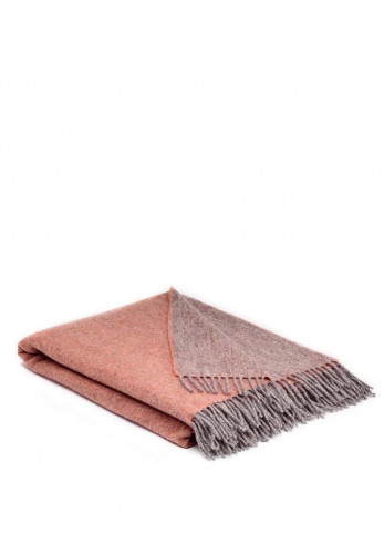 McNutt of Donegal Wool Reversible Blanket, Peach Nectar