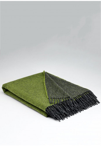 Mc Nutt of Donegal Reversible Throw, Meadow green