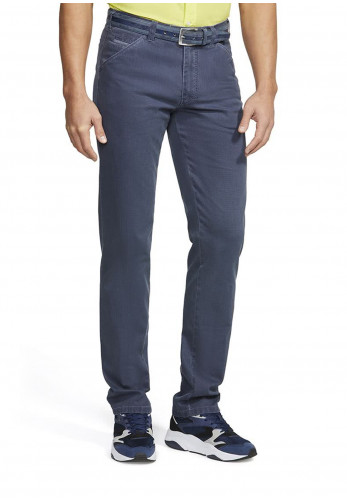 Meyer Mens Chicago Belted Trousers, Navy