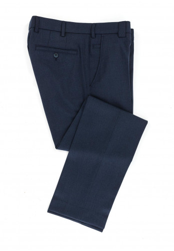 Meyer Mens Roma Wool Look Trousers, Blue