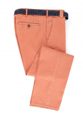 Meyer Men's Roma Belted Trousers, Washed Orange