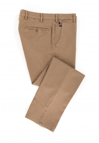 Meyer Mens Roma Pure Organic Cotton Trousers, Beige