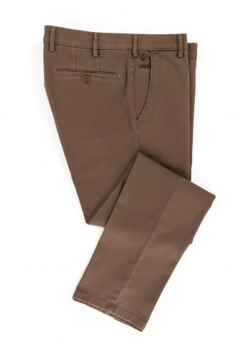 Meyer Mens Roma Pure Organic Cotton Trousers, Taupe
