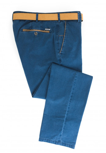 Meyer Mens New York Belted Trousers, Blue