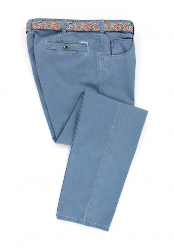 Meyer Men's Belted Diego Trousers, Light Blue