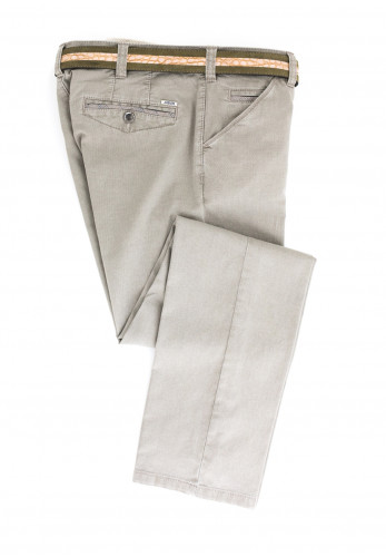 Meyer Mens Chicago Belted Trousers, Beige