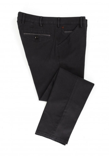 Meyer Mens Chicago Pure Organic Cotton Trousers, Charcoal