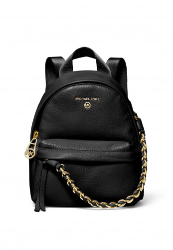 MICHAEL Michael Kors Slater Small Leather Backpack, Black
