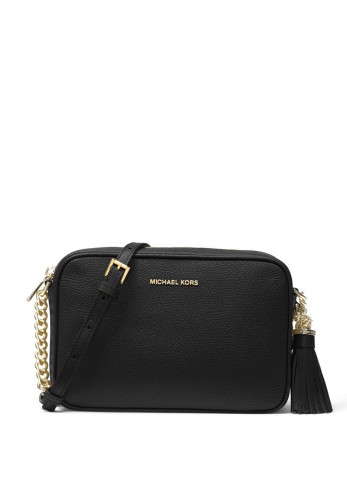 MICHAEL Michael Kors Ginny Crossbody Leather Bag, Black