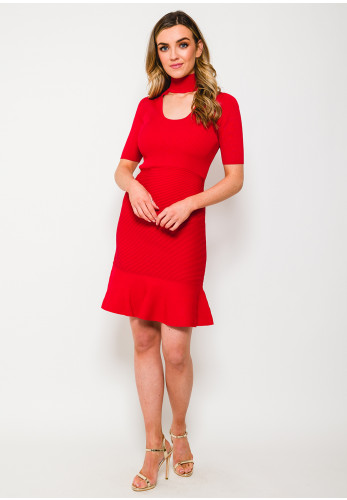 MICHAEL Michael Kors Rib Knit Dress, Crimson Red