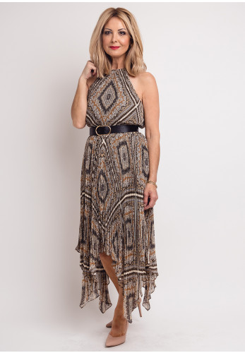 MICHAEL Michael Kors Vintage Print Halter Dress, Brown