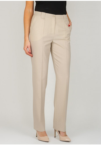 Michele Regular Length Comfort Fit Trousers, Beige