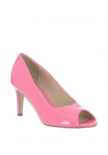 Mille & Co. Paige Peep Toe Heeled Shoes, Pink