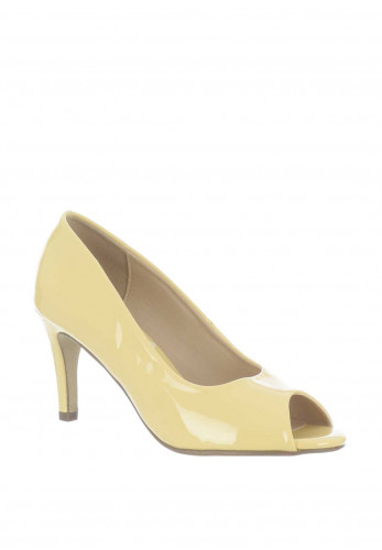 Mille & Co. Paige Peep Toe Heeled Shoes, Yellow