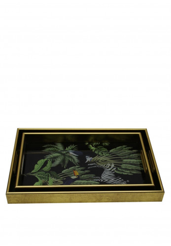 Mindy Brownes Set of 2 Zebra Serving Trays