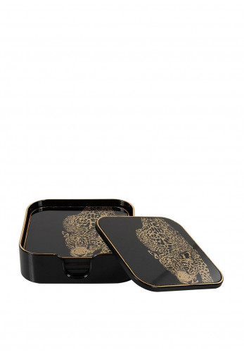 Mindy Brownes Leopard Coasters Set of 5
