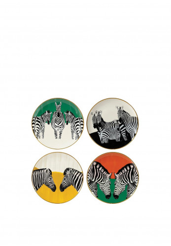 Mindy Brownes Zebra Wall Plates Set of 4