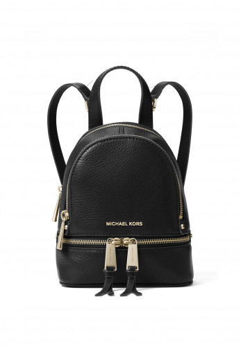 MICHAEL Michael Kors Rhea Mini Leather Convertible Backpack, Black