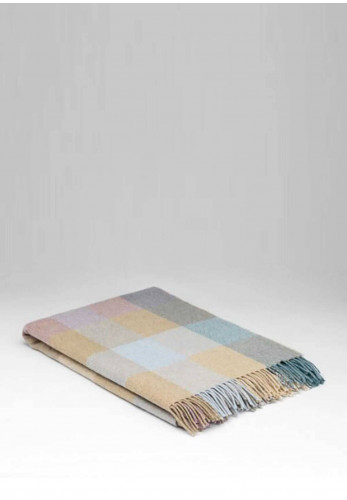 McNutt of Donegal Lambswool Coastal Check Pashmina, Multi