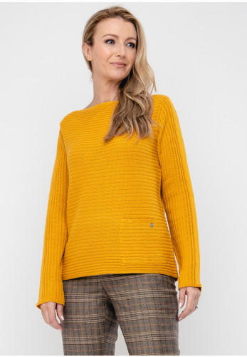 Monari Ribbed Knit Jumper, Mustard