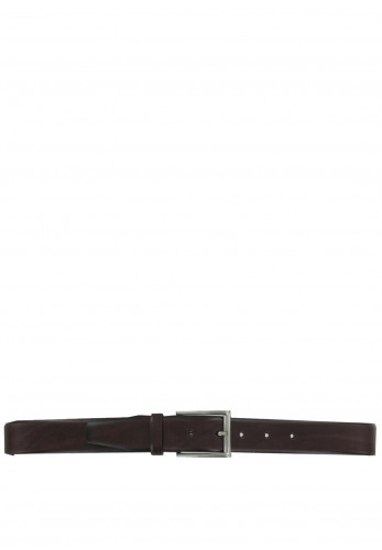 Monti Men's Leather Belt, Dark Brown
