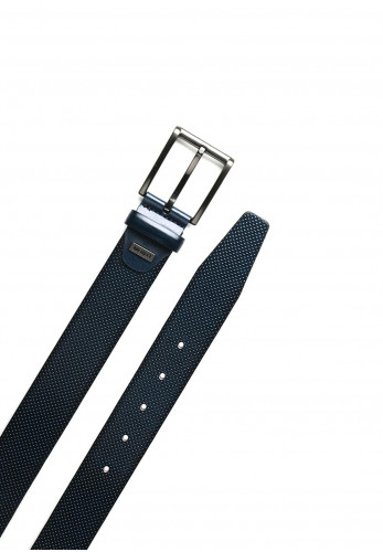 Monti Men's Leather Belt, Navy