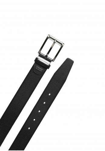 Monti Men's Leather Belt, Black