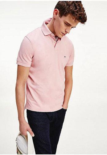 Tommy Hilfiger Organic 1985 Polo Shirt, Glacier Pink