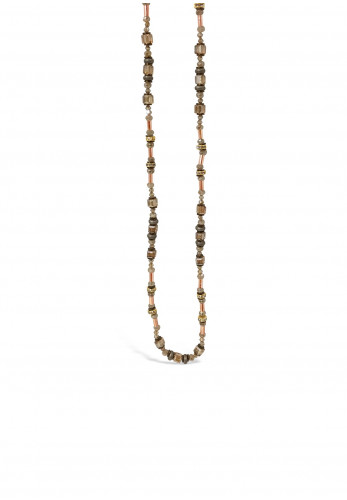 Absolute Champagne Bead Long Necklace, Rose Gold
