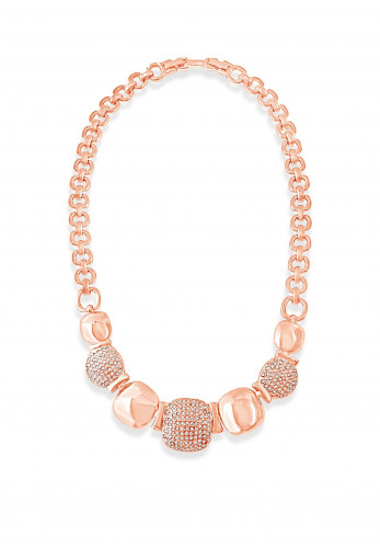Absolute Large Square Necklace, Rose Gold