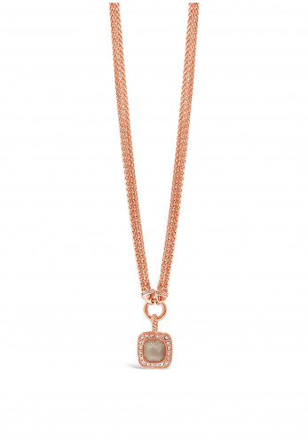 Absolute Blush Stone Necklace, Rose Gold