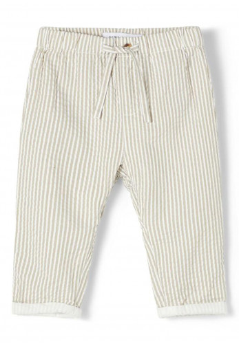Name It Baby Boys Filur Striped Trousers, Green