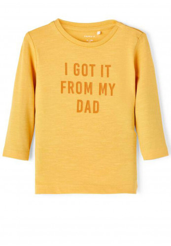 Name It Baby Boys Kent Long Sleeved T Shirt, Golden Apricot
