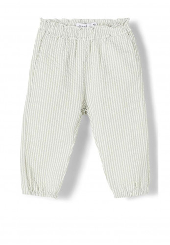 Name It Baby Girls Filur Stripe Trousers, Green