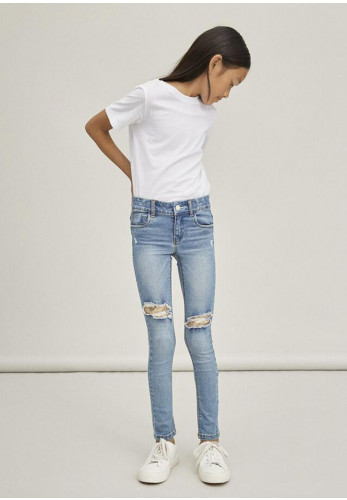 Name It Girls Polly 2452 Sequined Jeans, Denim