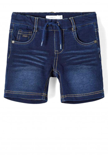 Name It Mini Boys Ryan 3456 Denim Shorts, Dark Blue