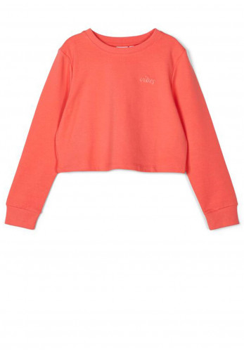 Name It Girls Tinturn Cropped Jumper, Coral